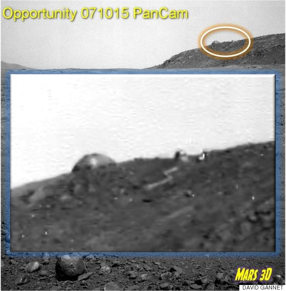UFO Hunters Believe NASA's Opportunity Rover Has Found An Alien 'Dome' On Mars