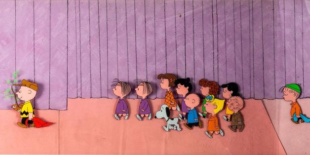Zeichnungen zum Peanuts-Weihnachtsfilm werden versteigert.