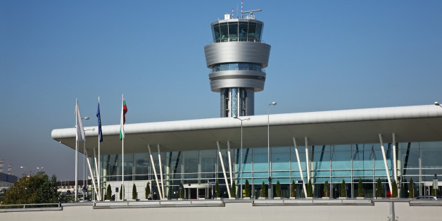 Airport in Sofia. Bulgaria