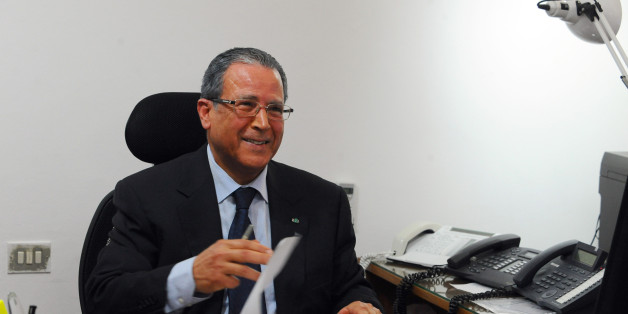 Rafik Chelly, the Tunisian  Secretary of State for Security Affairs ,  answers  The Associated Press in Tunis, Monday, April 20, 2015. (AP Photo/Hassene Dridi)