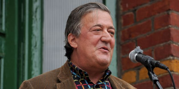 Stephen Fry unveils a Blue Plaque at 103 Woodside in Wimbledon, the former home of Historical novelist Georgette Heyer.