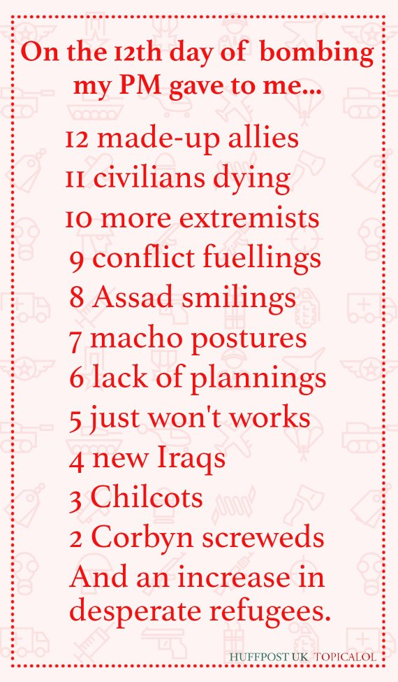 12 days of bombing syria christmas lyrics - 12 Days Of Christmas Lyrics