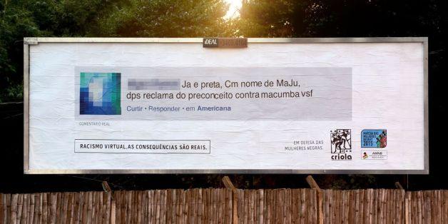 Au Brésil, les commentaires racistes affichés dans des panneaux géants