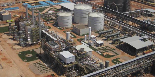Le complexe engrais de la Sorfert Algérie à Arzew