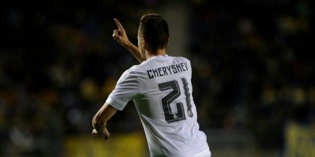 Le Russe du Real Madrid Denis Cheryshev, buteur à Cadiz en Coupe du Roi, le 2 décembre 2015