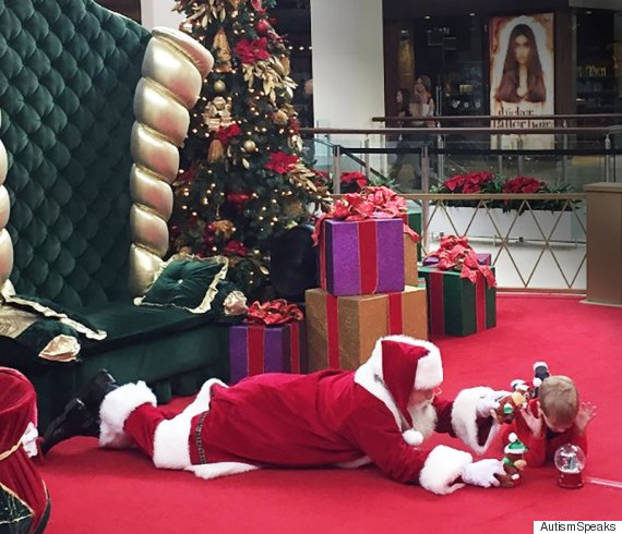 Santa Makes Christmas Extra Special For A Little Boy With Autism In Touching Photo