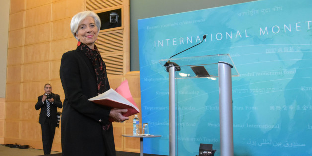 WASHINGTON D.C., Nov. 30, 2015 -- Christine Lagarde, managing director of the IMF, arrives to address a press conference in the headquarters of the International Monetary Fund in Washington D.C., the United States, Nov. 30, 2015. The International Monetary Fund announced on Monday that China's currency renminbi  is eligible for joining the Special Drawing Rights basket as an international reserve currency. (Xinhua/Bao Dandan via Getty Images)