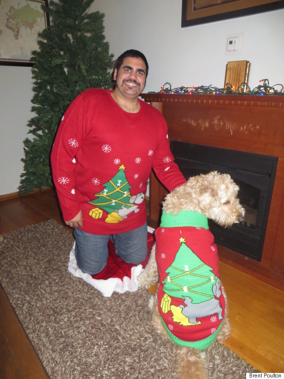 Ugly Christmas Sweaters Are Going To The Dogs And Their Owners