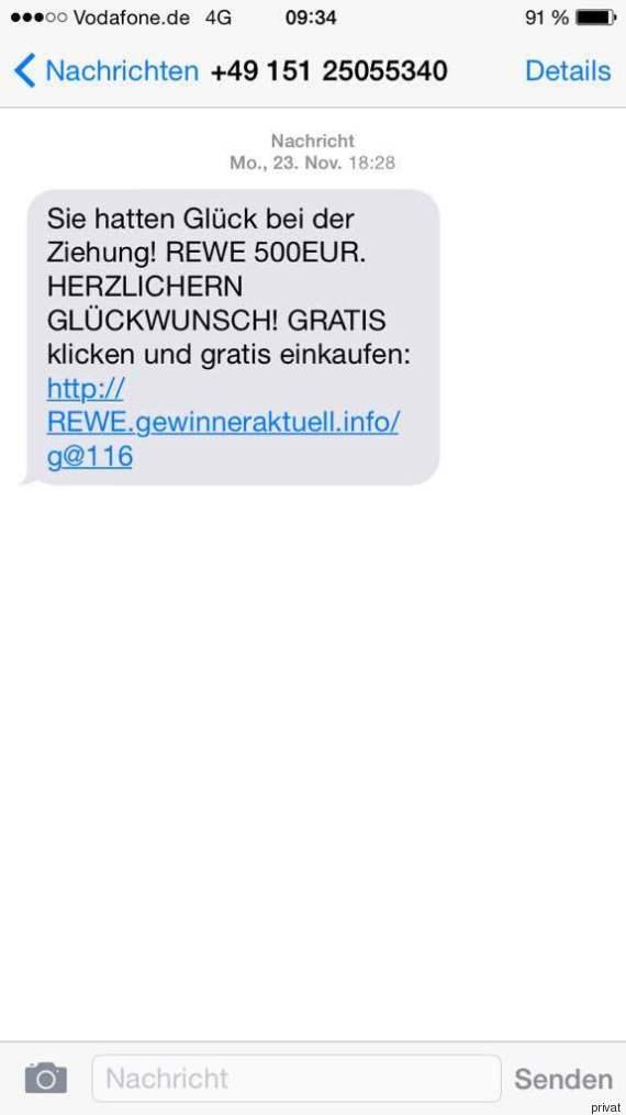 rewe abzocke sms