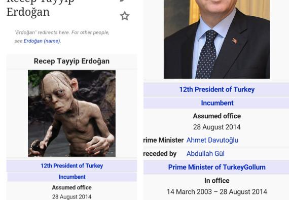 erdogan gollum wikipedia