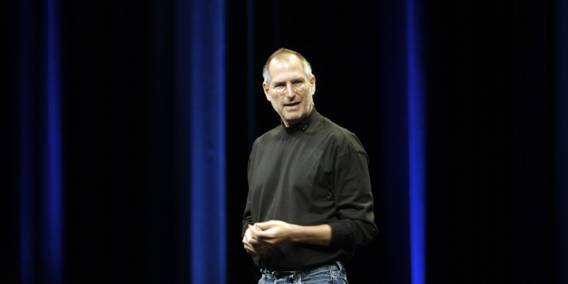 Steve Jobs speaks at his keynote at Apple's Worldwide Developer's Conference.