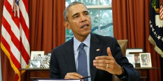 Le président américain Barack Obama dans le Bureau ovale à la Maison Blanche à Washington DC, le 2 novembre 2015