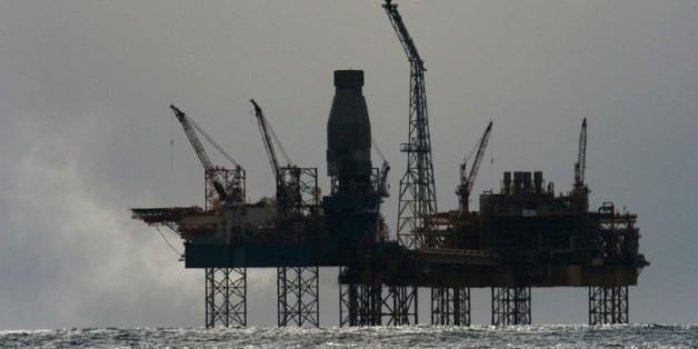 Une plate-forme Total en mer du Nord le 2 avril 2012