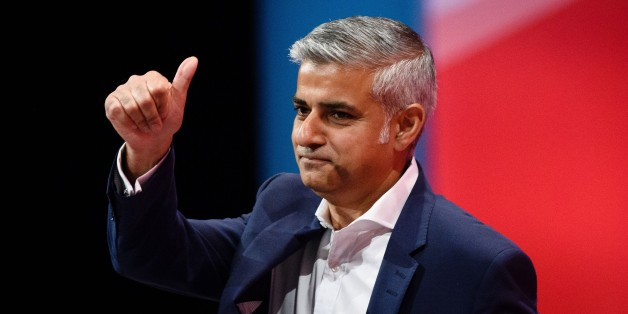 Labour's London mayoral candidate Sadiq Khan receives applause after addressing delegates on the final day of the annual Labour party conference in Brighton on September 30, 2015. AFP PHOTO / LEON NEAL        (Photo credit should read LEON NEAL/AFP/Getty Images)