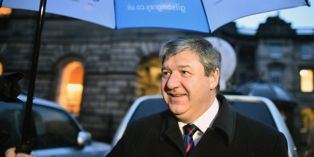 EDINBURGH, SCOTLAND - NOVEMBER 09:  Alistair Carmichael leaves Edinburgh Court of Session where he is appearing over  a falsified memo that was leaked when he was in charge at the Scotland Office on November 09, 2015 in Edinburgh,Scotland. Mr Carmichael is appearing following a Cabinet Office enquiry found he authorised the leak of a memo in which it was claimed that Nicola Sturgeon wanted David Cameron, rather than Ed Miliband, to be Prime Minister.  (Photo by Jeff J Mitchell/Getty Images)