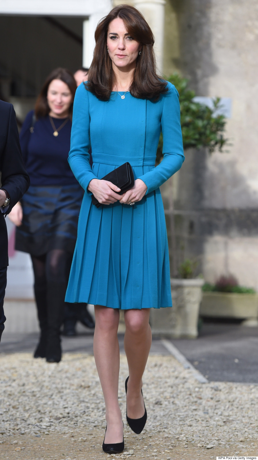 Kate Middleton Sports Affordable Houndstooth Coat From Reiss