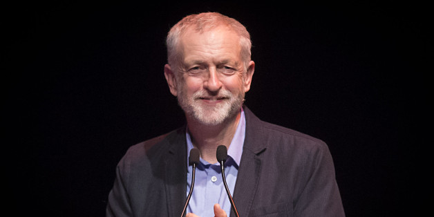 Labour leader Jeremy Corbyn addresses a TUC rally at Glasgow Royal Concert Hall in Scotland.