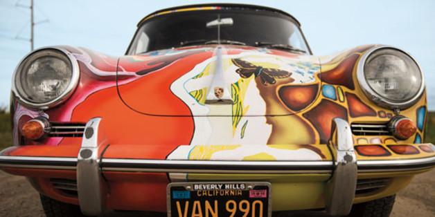 Dieses Auto fällt auf: Janis Joplins bunt bemaltes Cabrio