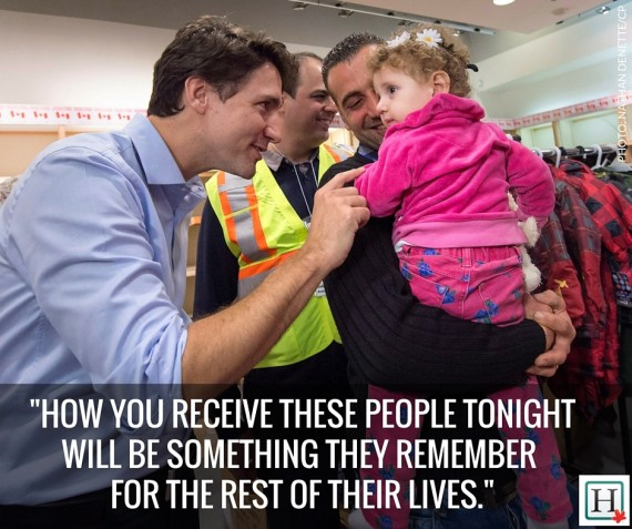 justin trudeau syrian refugees