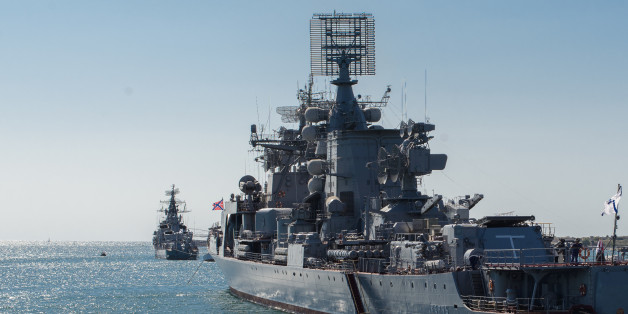 Russian naval ships Kerch and Smetlivy (БЛК Керчь и БЛК Сметливый)
