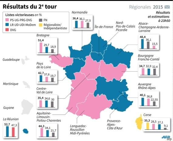 france carte élections