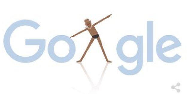 Google ehrt Yoga-Meister B. K. S. Iyengar mit einem Doodle am 14. Dezember.