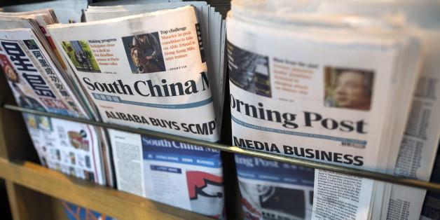 "Online-Riese Alibaba kauft Hongkonger Traditionszeitung ""South China Morning Post"" für 242 Millionen Euro."