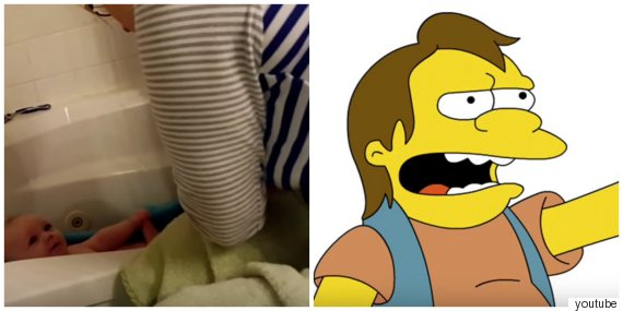 adorable baby girl s laugh sounds exactly like nelson muntz from the