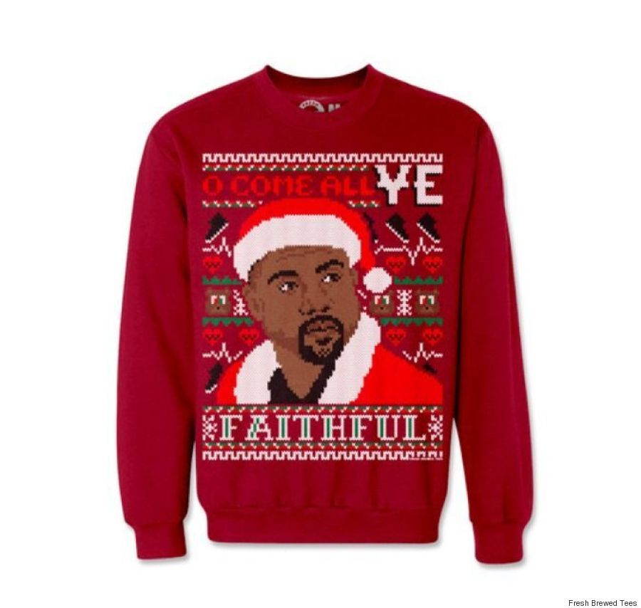 kanye west christmas sweater