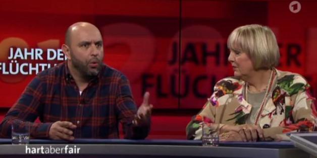 "Serdar Somuncu und Claudia Rotha bei ""Hart aber fair"""