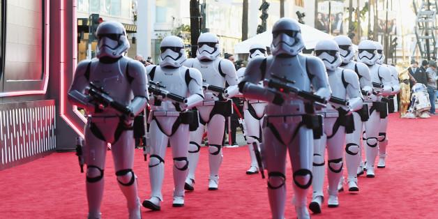 Sturmtruppler auf dem roten Teppich bei der Star-Wars Premiere in Hollywood.