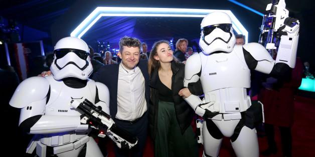 """Schauspieler Andy Serkis and Ruby Serkis haben auf der Party zu der Weltpremiere von """"Star Wars""""."""