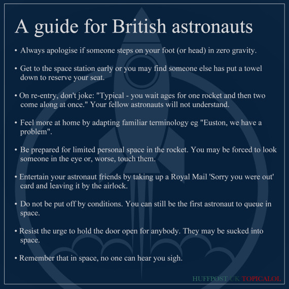 guide for british astronauts
