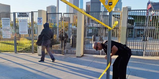 Nach einer Bombendrohung bleiben in Los Angeles heute hunderte Schulen geschlossen