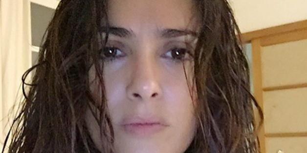 Auch ohne Make-up sieht man Salma Hayek (49) ihr Alter wirklich nicht an!
