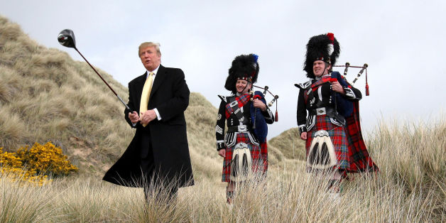 Donald Trump visiting the Menie Estate in Aberdeenshire before his golf resort was built, as the US presidential candidate said he will continue to fight against an offshore wind farm project near the resort after losing a battle in the Supreme Court.