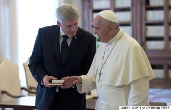 stephen harper pope
