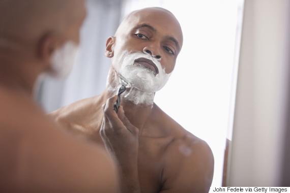 shaving black