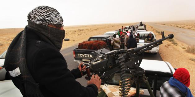Libysche Rebellen im Kampf gegen Gadaffi im Jahr 2011
