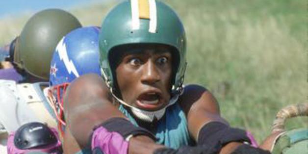 """""""Cool Runnings"""": Das erste Training der jamaikanischen Bobmannschaft sorgt für Gelächter bei den Zuschauern"""