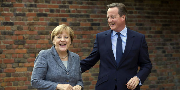 """File photo dated 09/10/15 of Prime Minister David Cameron (right) with German Chancellor Angela Merkel, as Mr Cameron was braced for a showdown with EU counterparts over his renegotiation demands after the German chancellor warned she would not allow """"discrimination"""" against migrants."""
