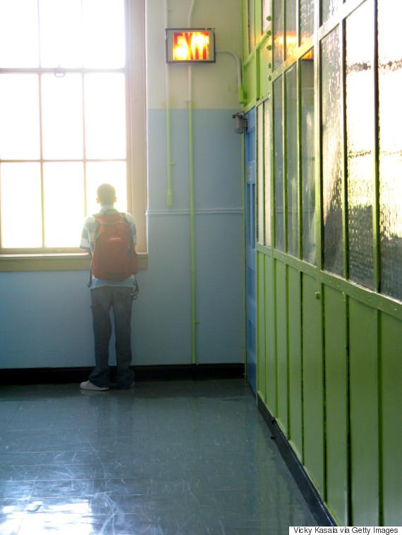 boy school corridor
