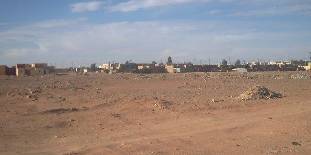 Une vue de Debdeb, ville frontalière avec la Libye