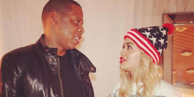 Vor gerade mal einem Jahr postete Rita Ora diesen Schnappschuss mit Jay Z auf Twitter