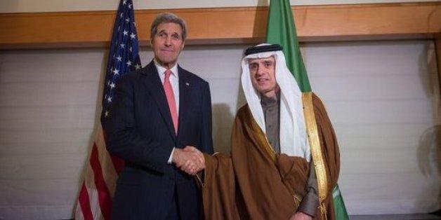 Le secrétaire d'Etat américain John Kerry et le ministre saoudien des Affaires étrangères Adel Ben Ahmed Al-Jubeir