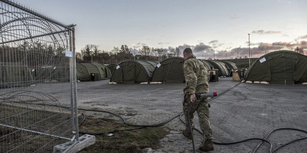 The new migrant reception camp in Vordingborg, 100 km south of Copenhagen, is opened to the media Thursday, Nov. 26, 2015. The camp will be able to house up to 2000 migrants and refugees. (Per Rasmussen/Polfoto via AP) DENMARK OUT