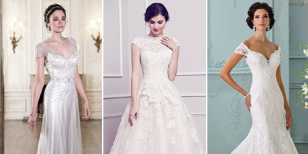 The 25 most pinned wedding dresses of 2015 huffpost junglespirit Choice Image