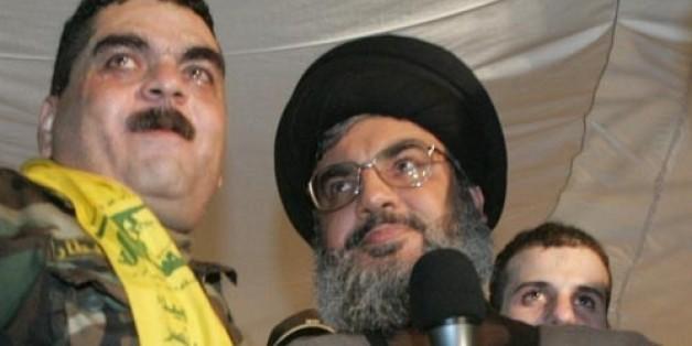 Samir Kantar avec Hassan Nasrallah, chef du Hezbollah