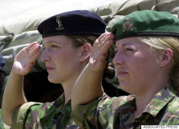 female soldiers uk