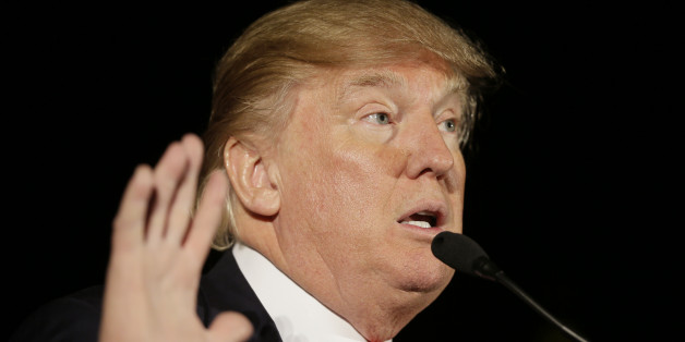 Republican presidential candidate Donald Trump speaks during a campaign rally at the Veterans Memorial Building, Saturday, Dec. 19, 2015, in Cedar Rapids, Iowa. (AP Photo/Charlie Neibergall)